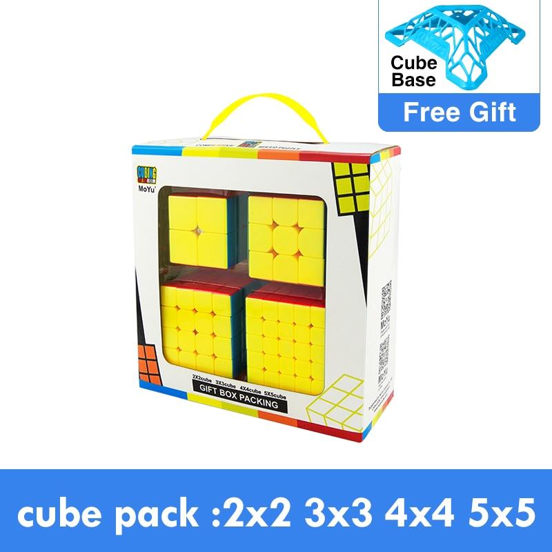 מארז קוביות 2x2 3x3 4x4 5x5 של חברת Moyu