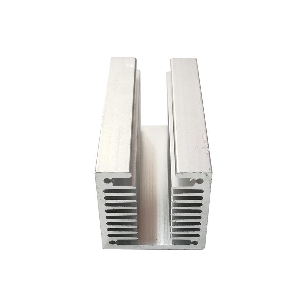 1pcs Aluminum heatsink LED heatsink 40x40-100mm heat sink Aluminum profiles  Aluminum color  Chassis  radiator