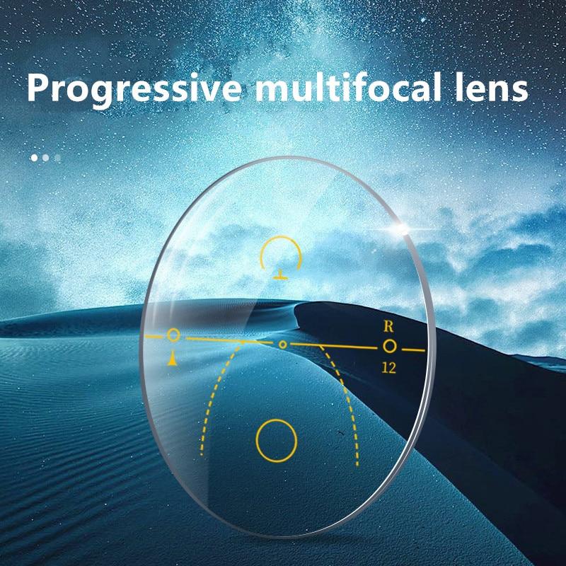 Lente presbiopia multifocal progressiva dos vidros presbiopia correspondentes