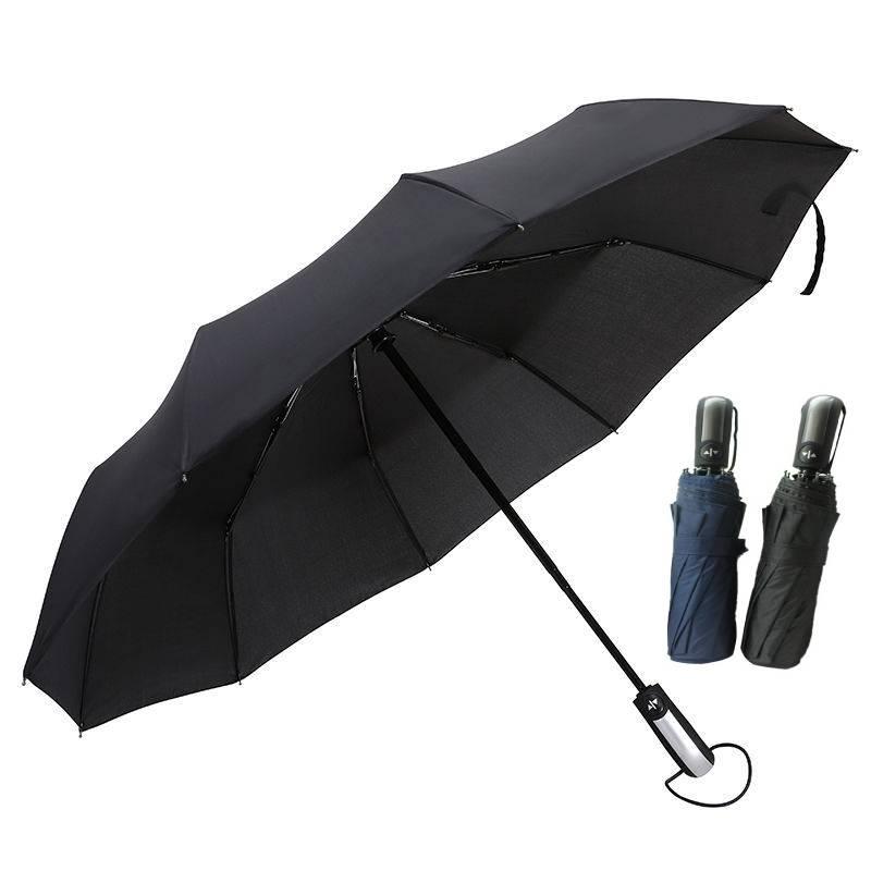 Wind Resistant Folding Automatic Umbrella Rain Women Auto Luxury Big Windproof Umbrellas For Men Black Coating Parasol