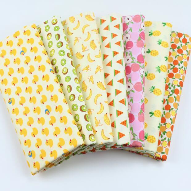 50*160 cm morango apple frutas algodão impresso tecido, materiais feitos à mão para bebê, faça você mesmo, acolchoamento têxtil, artesanato