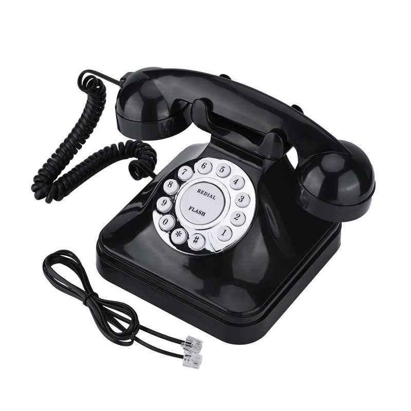 WX-3011 de teléfono inalámbrico, accesorio Vintage negro, multifunción, de plástico, Retro, con...