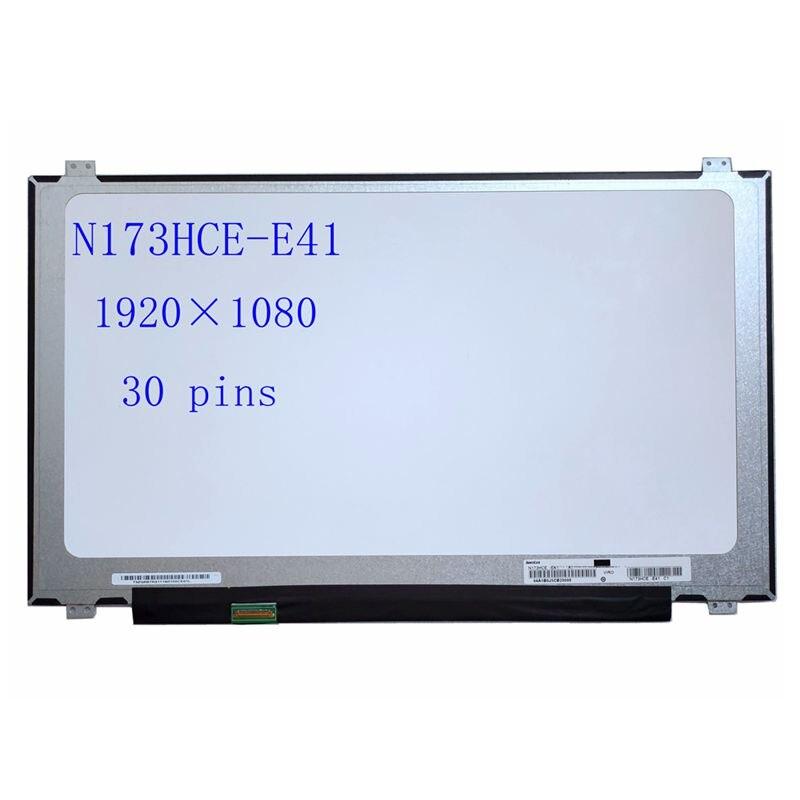 لديل من Alienware 17R2/R3/R4/R5 FHD شاشة الكمبيوتر المحمول NV173FHM-N41 LP173WF4 SPF1 LTN173HL01 B173HAN01.0 ضئيلة 30pin