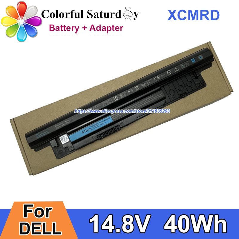 40Wh 14.8V XCMRD Battery MR90Y For DELL Inspiron 15 3000 5748 15R 5521 14 17 17R 3721 VOSTRO 14 15 Ins14VD INS15CD Series Laptop