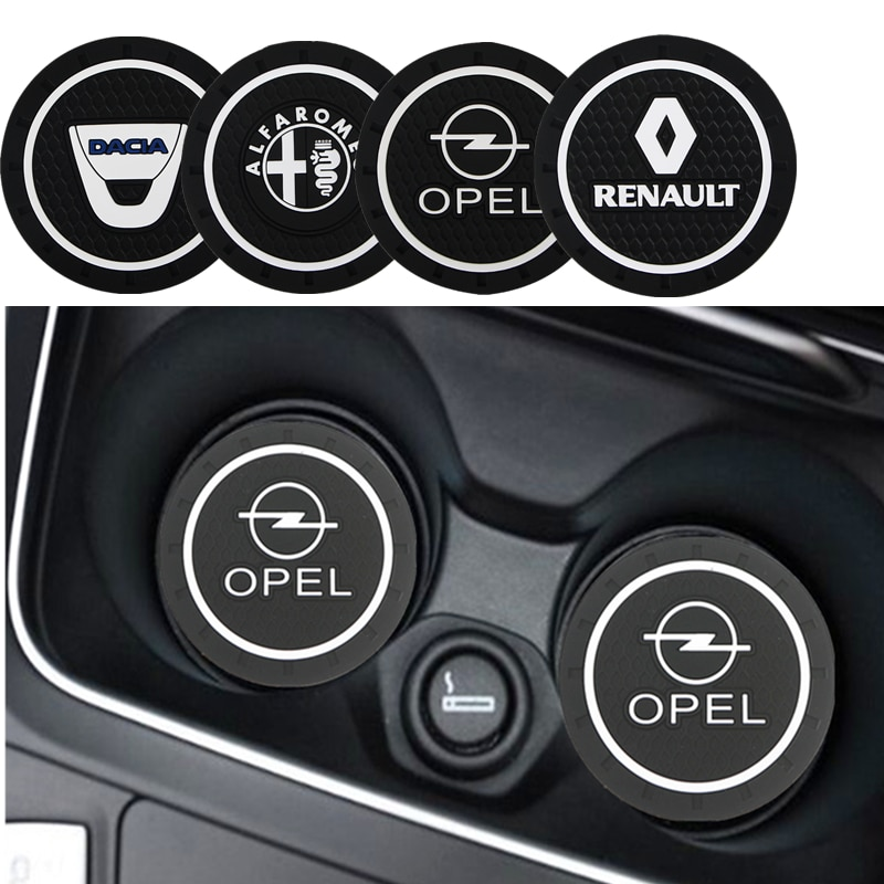 Carro anti-slip pad Mat Suporte de Copo Garrafa Pad Para Peugeot 206 207 208 306 307 308 508 106 107 108 2008 3008 5008