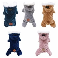 pet dog winter warm with big fur collar coat pet thicken four legs jumpsuit for yorkshire teddy dogs costume puppy jackets