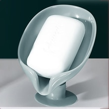 Plastic Soap Dish for Bathroom Shower Soap Holder Non-slip Drain Soap Container Bathroom Supplies travel accessories