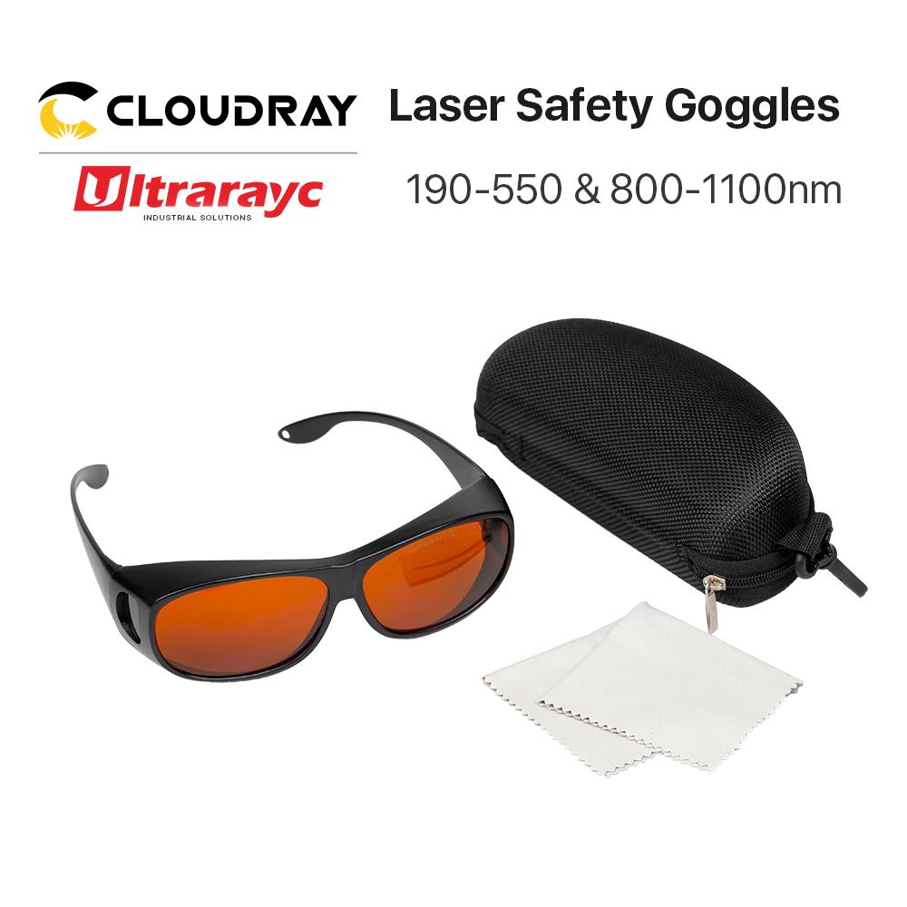 Ультрарайк 355 и 532нм лазерные очки среднего размера Тип B защитные очки Защита для УФ и зеленые лазерные защитные очки