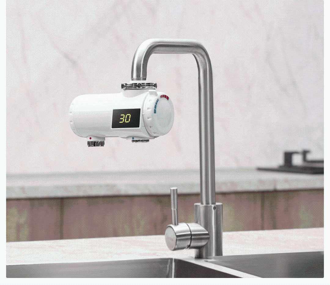 Xiaoda 220V 3000W calentador de agua eléctrico grifo 3s calentamiento instantáneo rápido baño cocina grifo mezclador frío pantalla LED