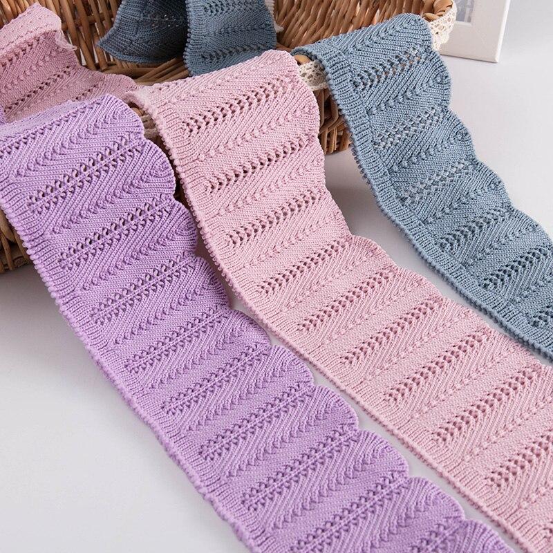 Inverno stringy selvedge manguito tecido poliéster malha elastano collar tecido para menina camisola roupas acessórios ka18