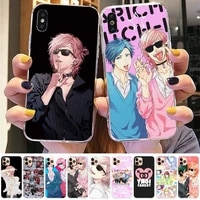 fhnblj anime yarichin bitch club phone case for iphone 8 7 6 6s plus x 5s se 2020 xr 11 12 pro xs max