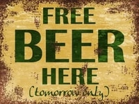 retro tin paintings free beer here advertisment retro vintage metal sign n cave shed gift