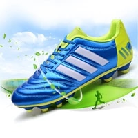 men soccer shoes adult kids high ankle football boots cleats grass training sport footwear 2020 trend sneakers chuteira 33 44