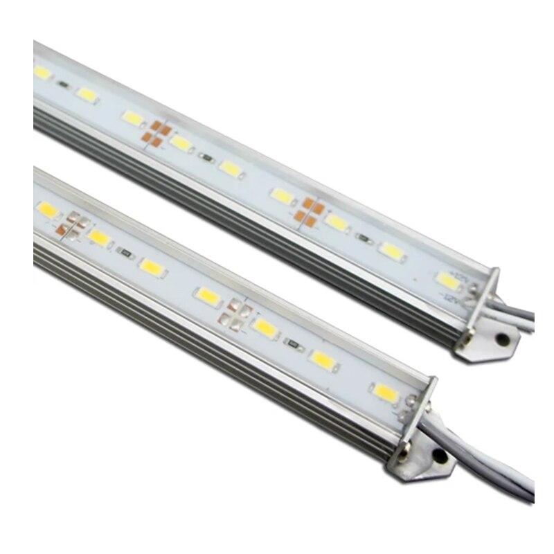 10 pacote 1m rígida led strip lighting smd5630 72 leds por metro à prova dwaterproof água com escudo de alumínio de u para iluminação interna e sinais