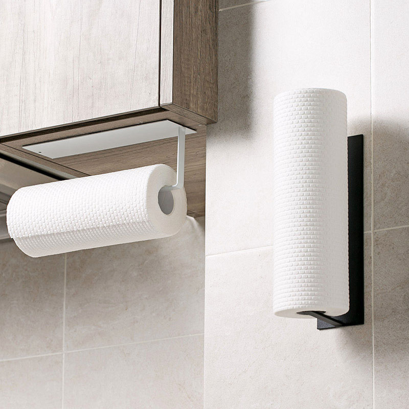 Self Adhesive Roll Paper Holder Bathroom Toilet Paper Holder Kitchen Towel Holder Rack Tissue Hanger Rack Hanging Organizer self adhesive roll paper holder bathroom toilet paper holder kitchen towel holder rack tissue hanger rack hanging organizer