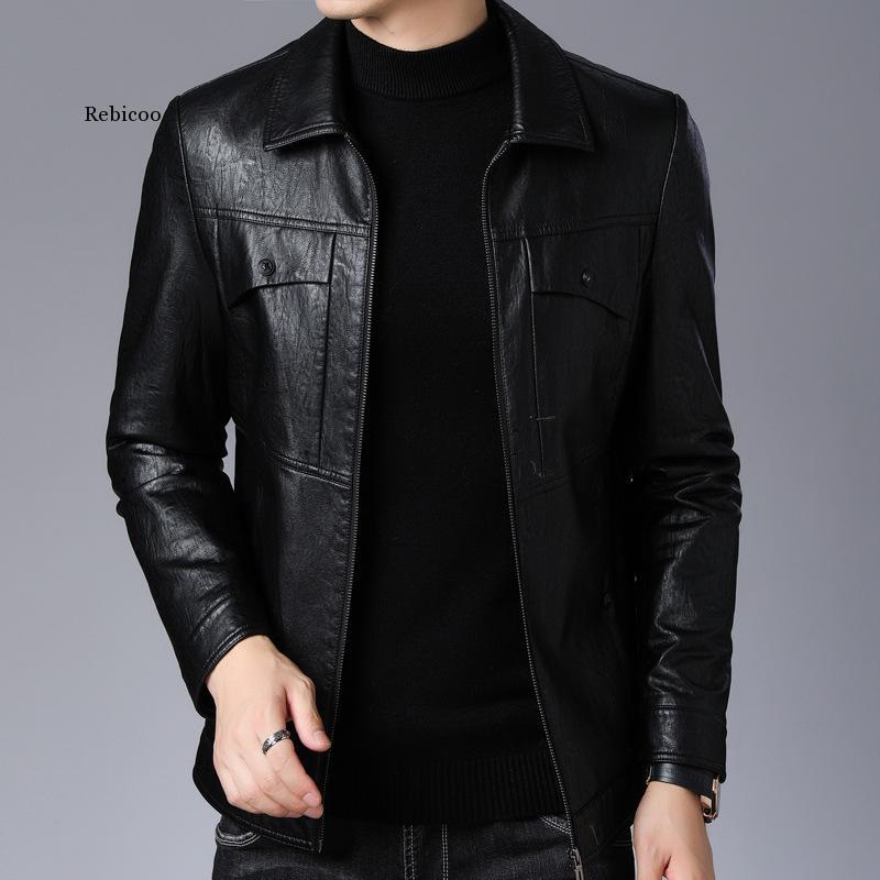 بيع جديد الشتاء هان طبعة قاطرة وسيم معطف جلد التلبيب سترة زراعة الأخلاق انفجار الرجال