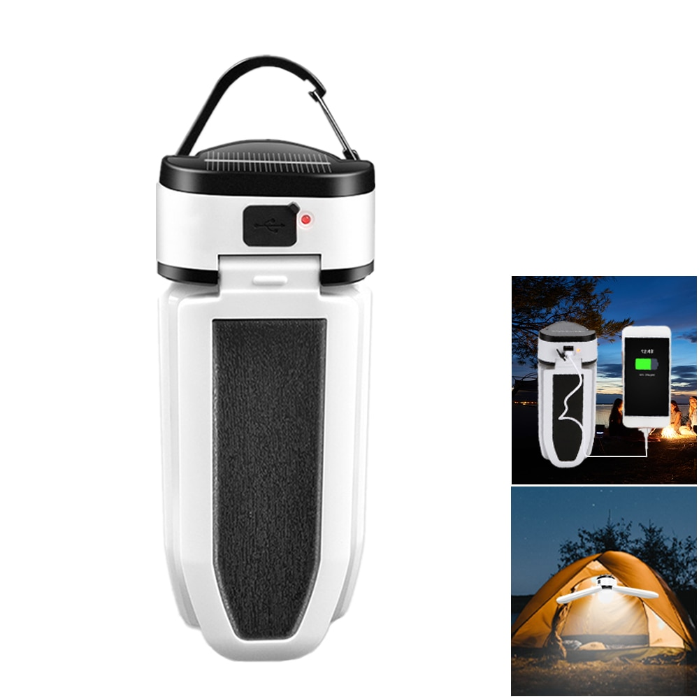 LED Lantern Portable Light Flashlight 60LED Folded Camping Lamp Solar USB Rechargeable Portable Lamp Waterproof Tent Lighting camping light rechargeable lamp portable lantern flashlight for camping tent with solar battery led solar lantern