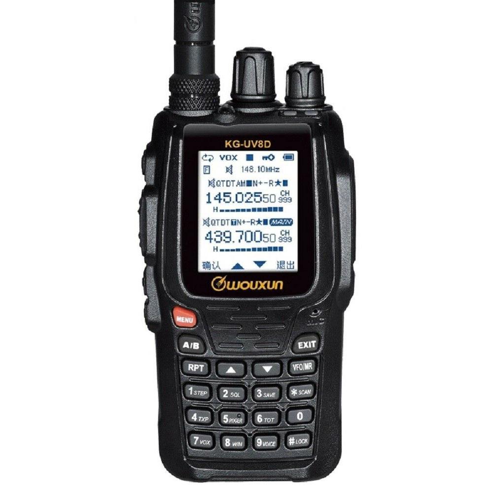 الأصلي WOUXUN KG-UV8D ثنائي الموجات اتجاهين راديو مع 1700mAh بطارية FM الإرسال والاستقبال UVD8P اسلكية تخاطب UHF VHF هام راديو