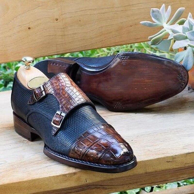 Men Pu Leather Dress Shoes Fashion Casual Shoes Men Handmade Loafers Slip-on Shoes Men  Zapatillas D