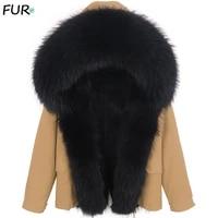 2020 real fur winter jacket hood thick warm real fox fur liner men long parka waterproof big natural raccoon fur collar coat