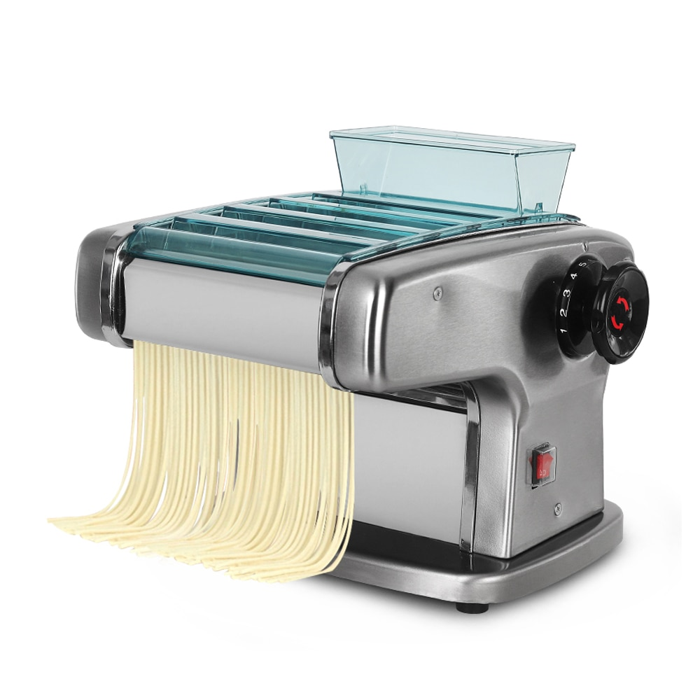 ITOP Electric Noodle Pasta Maker Stainless Steel Lasagne Spaghetti Maker Machine With Three Cutter 135W 5kg/h Output IT-FKM3 stainless steel 2 blades pasta making machine manual noodle maker hand operated spaghetti pasta cutter noodle hanger