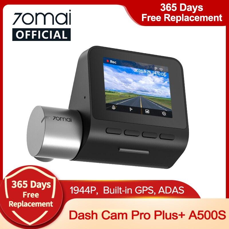 70mai 대쉬 캠 프로 영어 프로 플러스 1944P 70mai 자동차 DVR 카메라 GPS ADAS 140FOV 24H 주차 모니터 70mai 프로 플러스 A500S