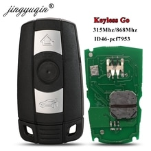 Jingyuqin 315Mhz 868MHz sans clé-Go clé intelligente à distance pour BMW série 3/5 CAS3 X5 X6 Z4 voiture ID46 Pcf7953 confort accès mains libres