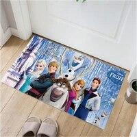children cartoon frozen mat 38x58cm door mat bathroom mat kitchen kids boys girls crawling game mat bedroom carpet baby gym