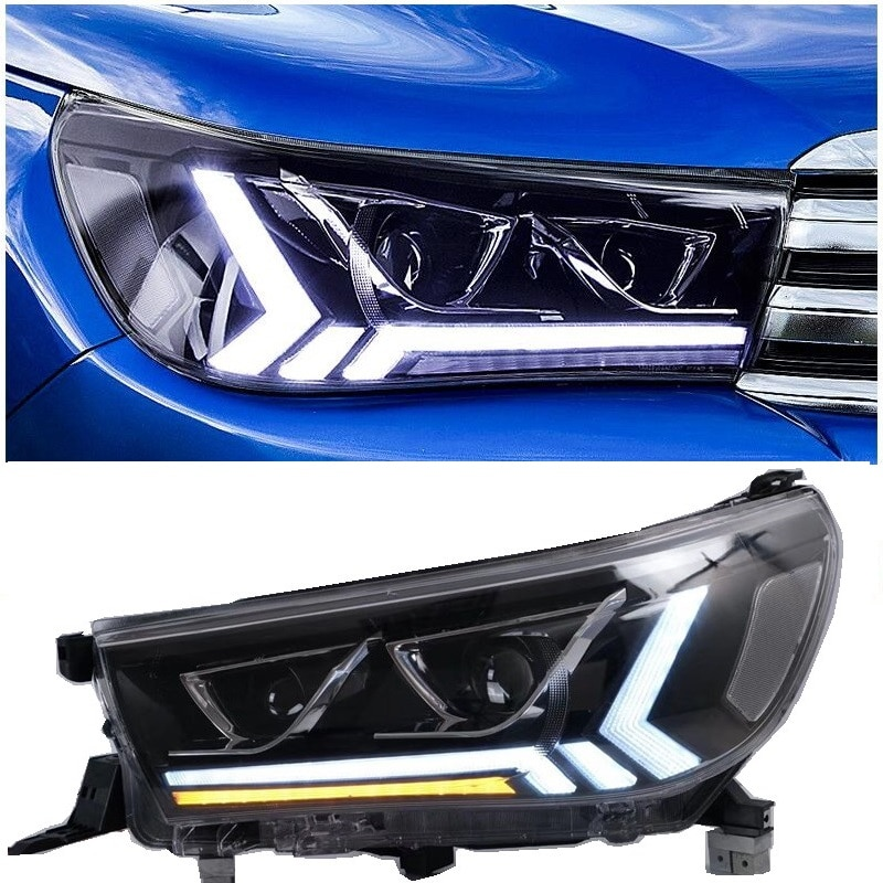 Faros delanteros led de coche, luces delanteras aptas para hilux revo rocco 2015-2020, faro delantero led para camioneta