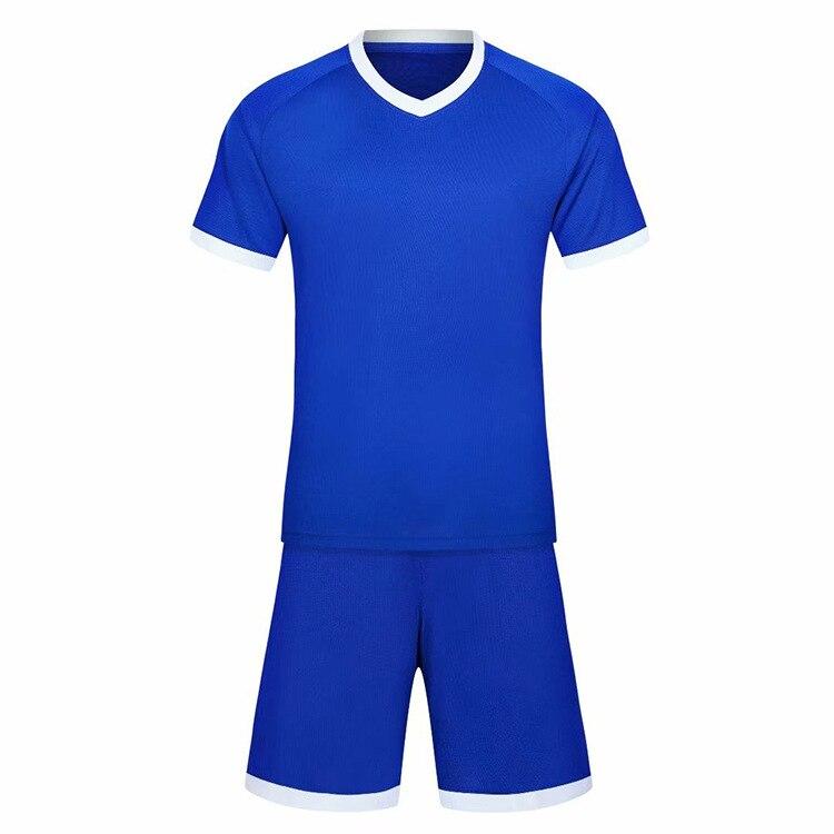 Оптовая продажа мужская Детская Футбольная форма чистый футбольный костюм для
