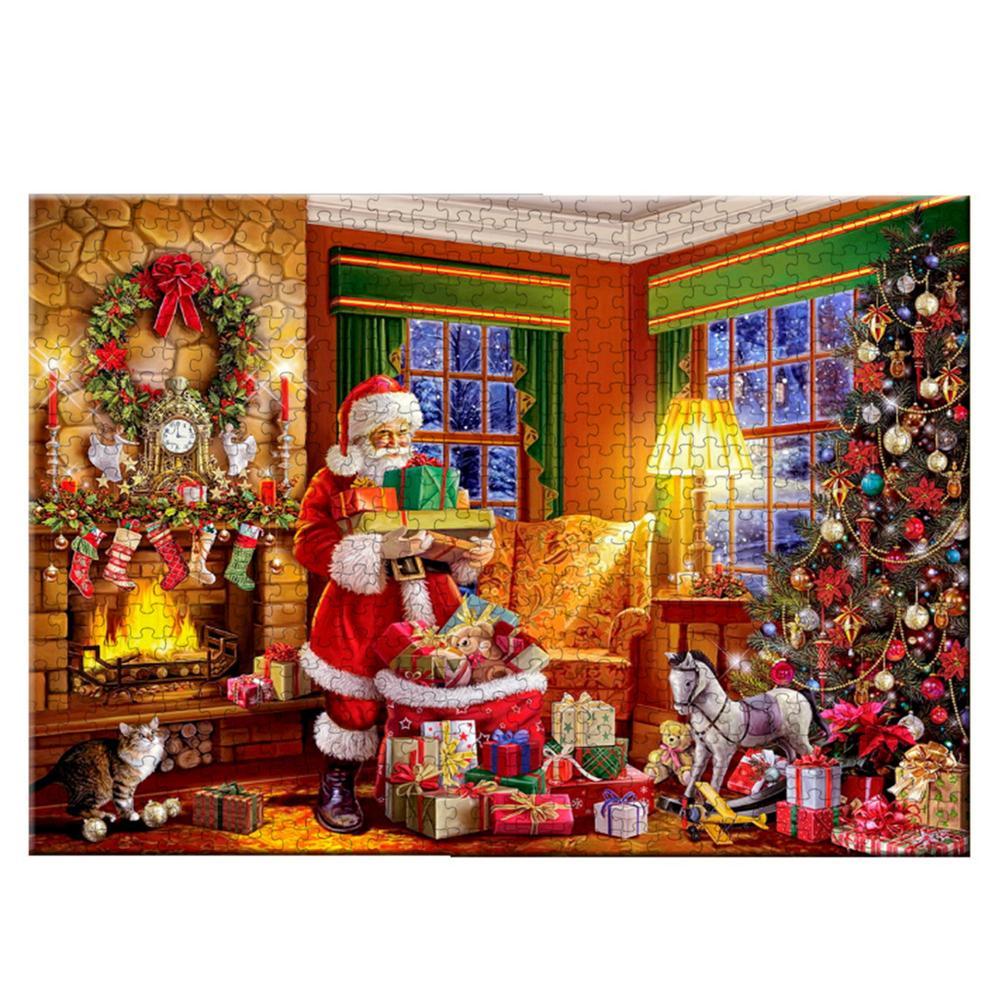 Рождественский пазл для тренировок, игра-головоломка, головоломки для декомпрессии, Рождественский Санта-Клаус, бумажные головоломки