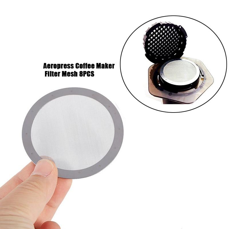 8 шт., ультратонкий металлический фильтр для кофеварки