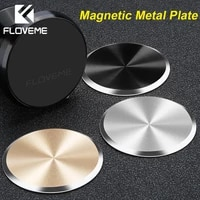 floveme 5pcs metal plate magnetic disk for car phone holder magnet iron for car mount phone holder stand sticker accessories