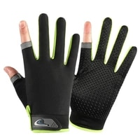 summer cycling gloves men mesh breathable thin fishing gloves anti slip half finger sports bicycle gloves