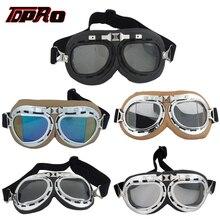 TDPRO lunettes rétro de Moto   Casque de pilote, lunettes classiques Vintage de Moto, Scooter ATV, lunettes anti-poussière, lunettes Anti-UV