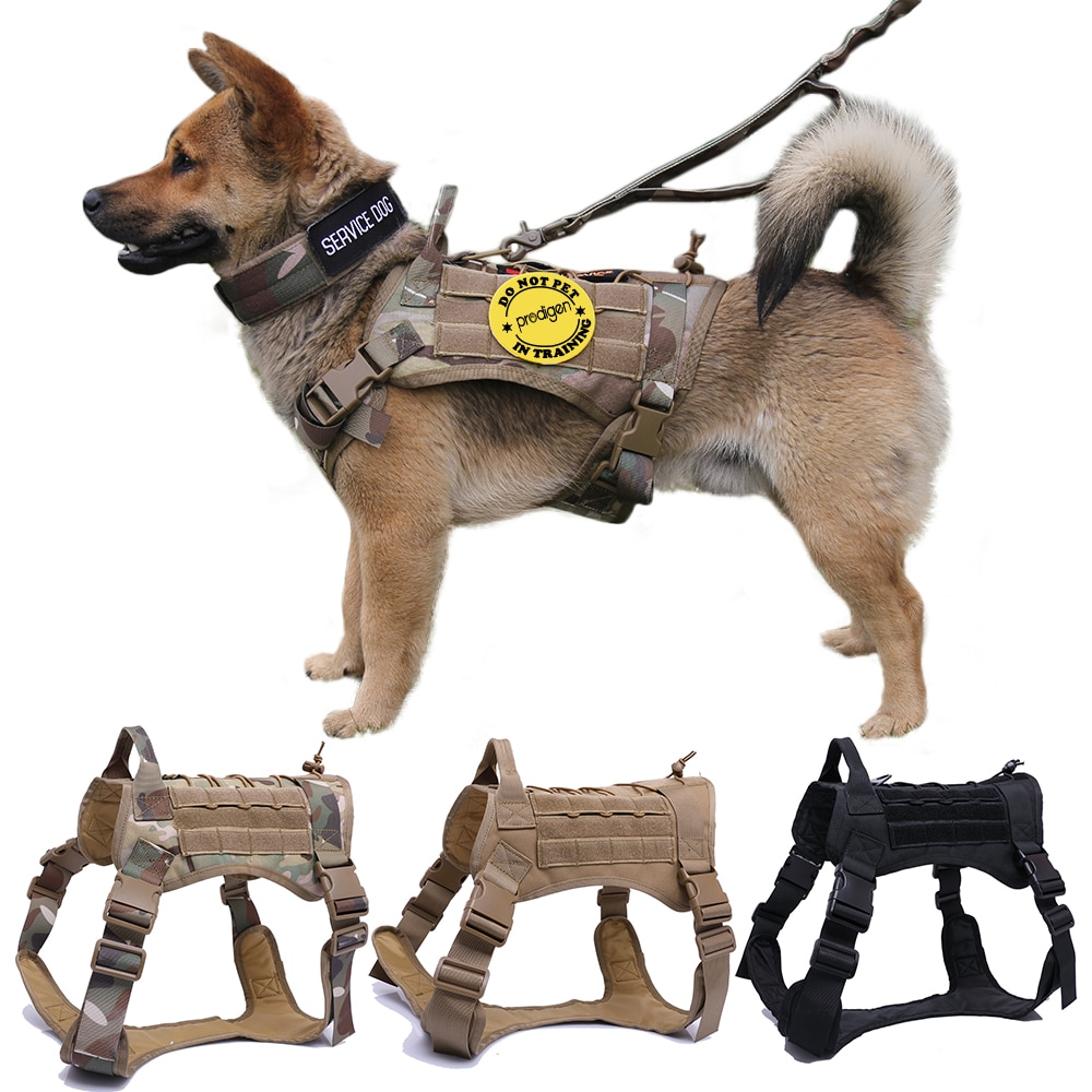 Arnês do cão tático militar pastor alemão cão de estimação colete com alça náilon bungee trela do cão para pequenos cães grandes filhote de cachorro