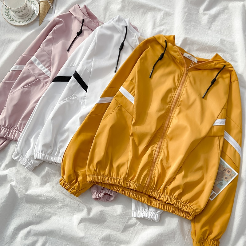 2021autumn Spring New Korean Style Loose Baseball Uniform Thin Women's Coat Student Salt Versatile C