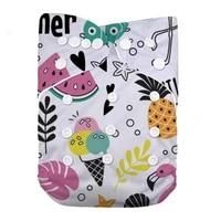 lilbit baby girl new printed reusable washable pocket cloth diaper