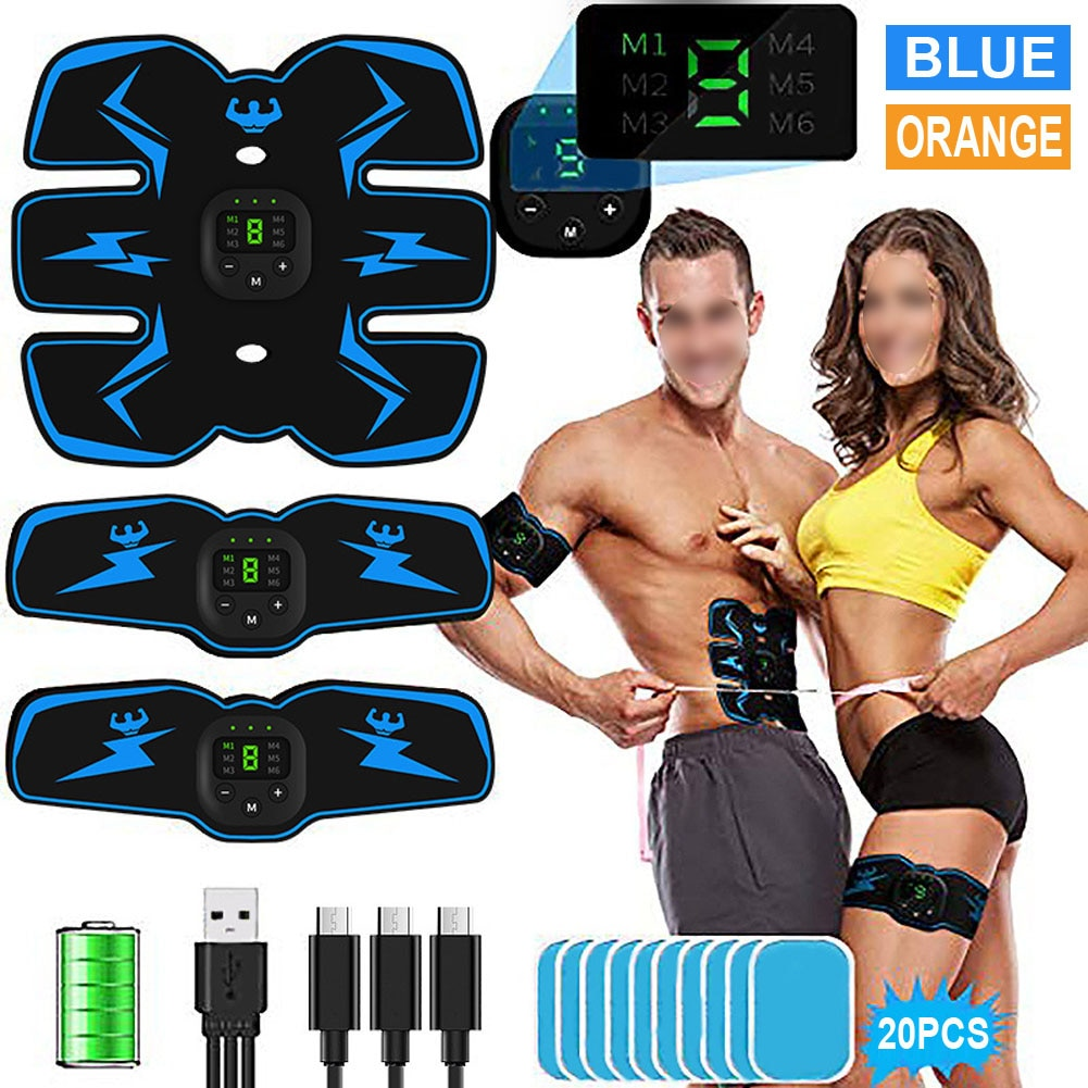 EMS Abdominal Muscle Stimulator Hip Trainer Toner USB Abs Fitness Training Gear Machine Home Gym Weight Loss Body Slimming fitpad smart abs training multi function ems muscle stimulation hous abdominal muscles intensive training loss slimming massager