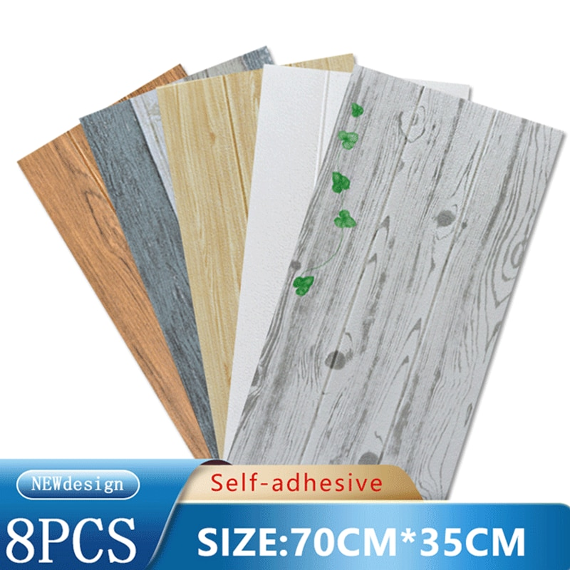8PCS 3D Wallpaper Supplier PE Wall Panels Self-Adhesive Foam Stickers For wallpapers Home Decor