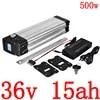 Batterie Lithium 36V 10ah 13ah 15ah 18ah 500W pour vélo électrique Ebike silverfish compatible avec moteur Bafang 8FUN BBS01