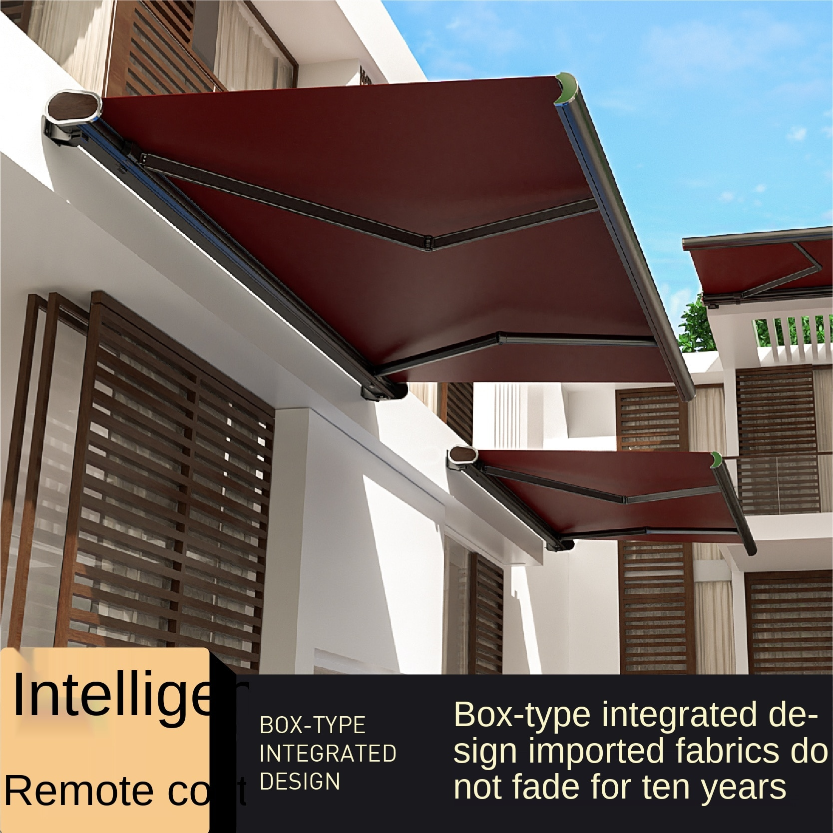 Electric Canopy Villa Outdoor Balcony Door Roof Foldable Awning Full Box Retractable Courtyard Shrink Awning
