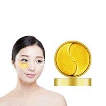 Altın yosun göz yamaları maskesi kristal kollajen göz maskesi anti-kırışıklık karşıtı yaşlanma karşıtı koyu halkalar göz bakımı 60 adet/şişe