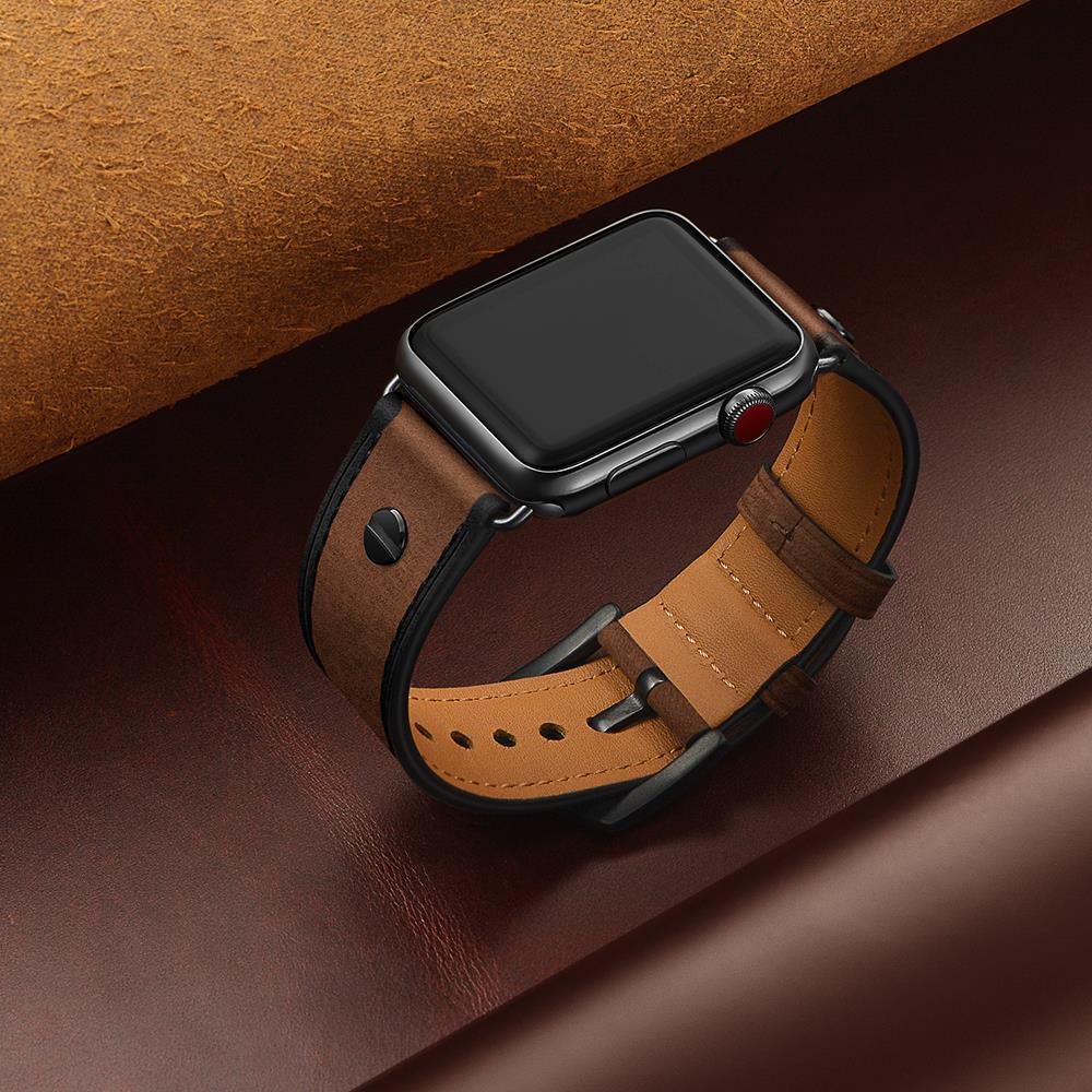 Correa de cuero para Apple watch 5 banda 44mm 40mm iWatch banda 42mm 38mm de alta calidad reloj de pulsera de reloj de Apple de la serie 5 4 3 42mm