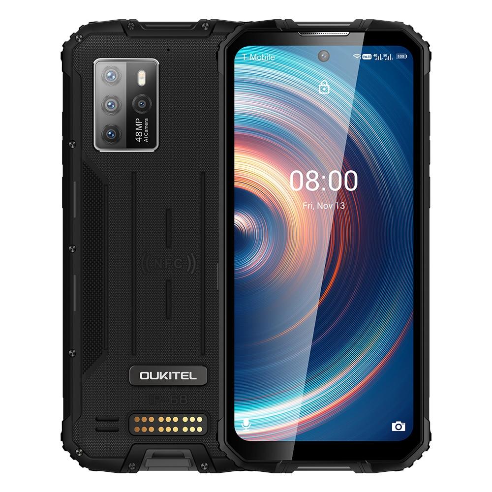 Перейти на Алиэкспресс и купить OUKITEL WP10 IP68 Водонепроницаемый 5G прочный смартфон 8 ГБ + 128 ГБ 8000 мАч 48MP Камера 6,67 ''FHD + безрамочный экран Глобальная Версия Мобильный телефон NFC