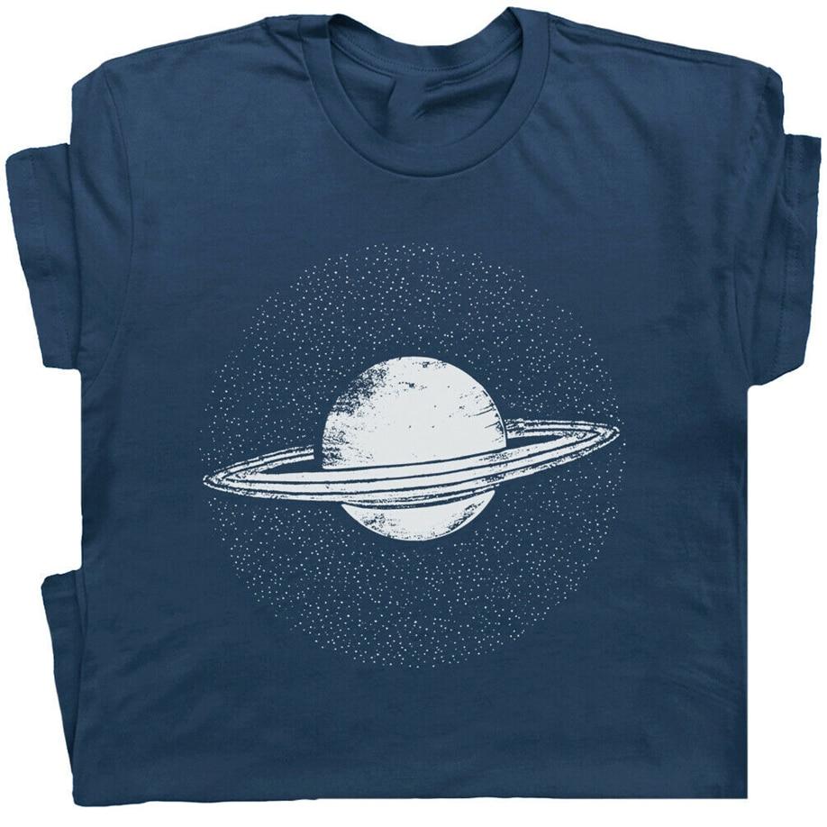 Planeta Saturno camiseta Pluto Retro ciencia Sistema Solar astrología astronomía camiseta marca ropa camiseta