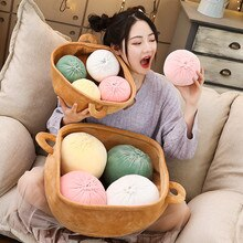 Cartoon food buns doll plush toy dumplings doll sleeping pillow cushion home sofa pillow for Kids Gift Room Decoration