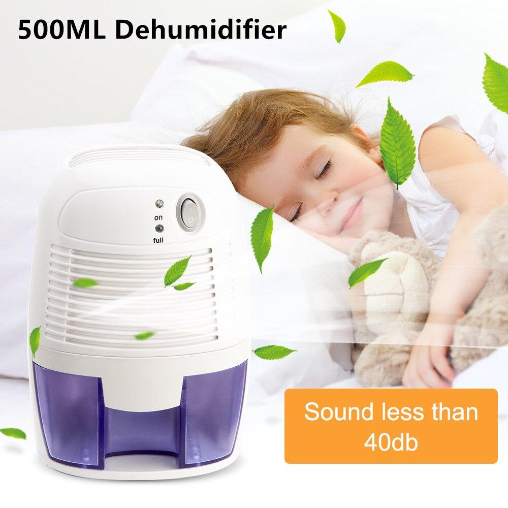 Deshumidificador para el hogar, secador de aire de gran capacidad, 500ML, USB,...