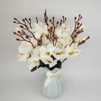 Simulation de fleurs sechees multicolores Magnolia  fleurs decoratives pour la maison  Vase de decoration  bricolage fait a la main