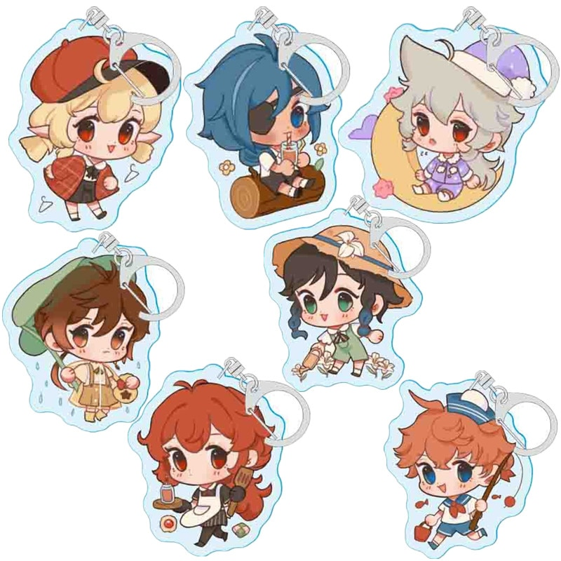 Genshin Impact Paimon Lumine Barbatos Venti Cosplay KeyChains Accessories Cute Bag Pendant Christmas Gifts Halloween Prop